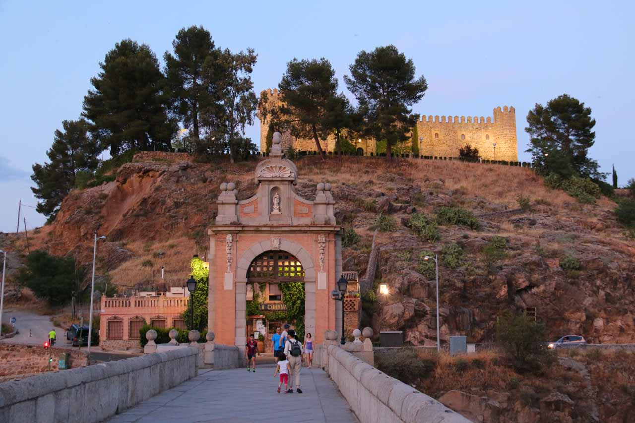 Looking across the Puente Alcantara towards San Fernando's Castle