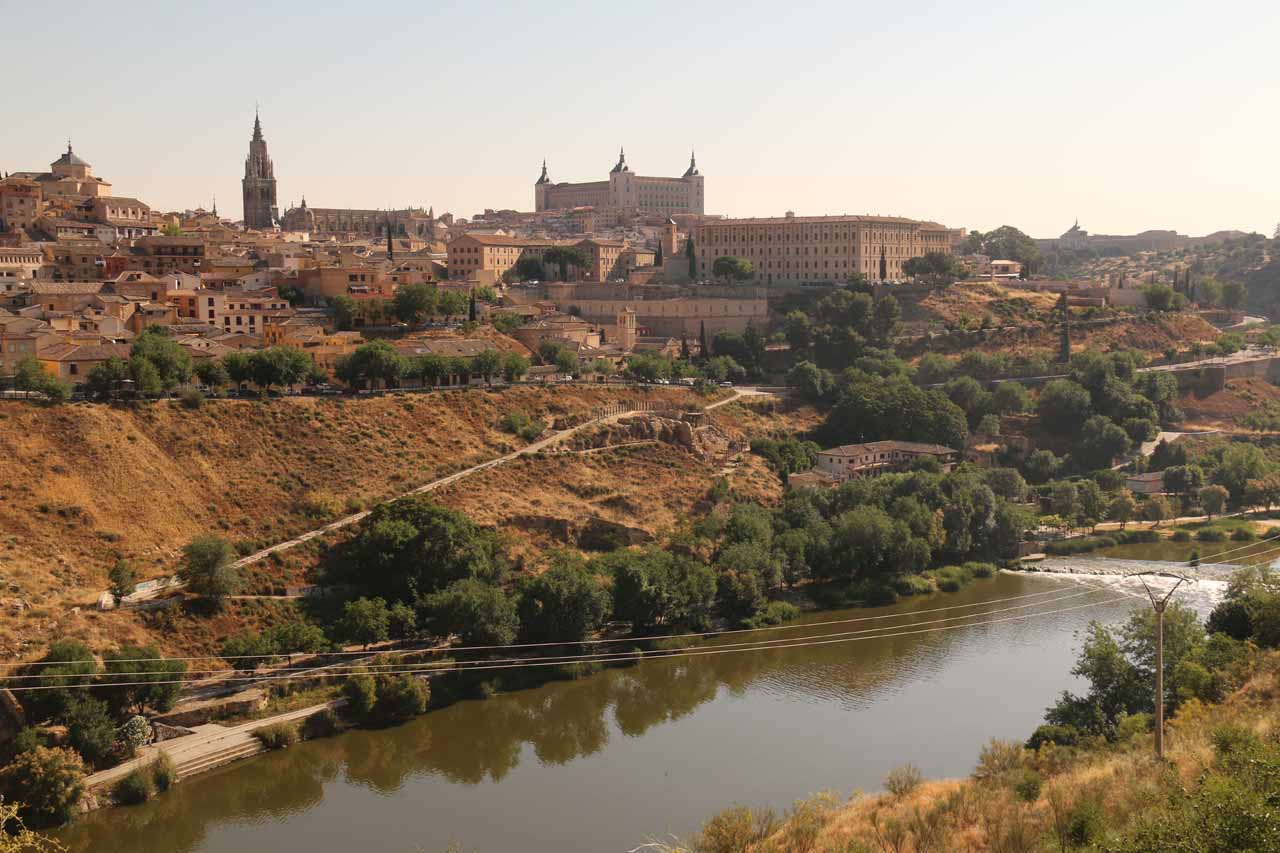 One of the views across the river towards the old town of Toledo from the Ronda de Toledo