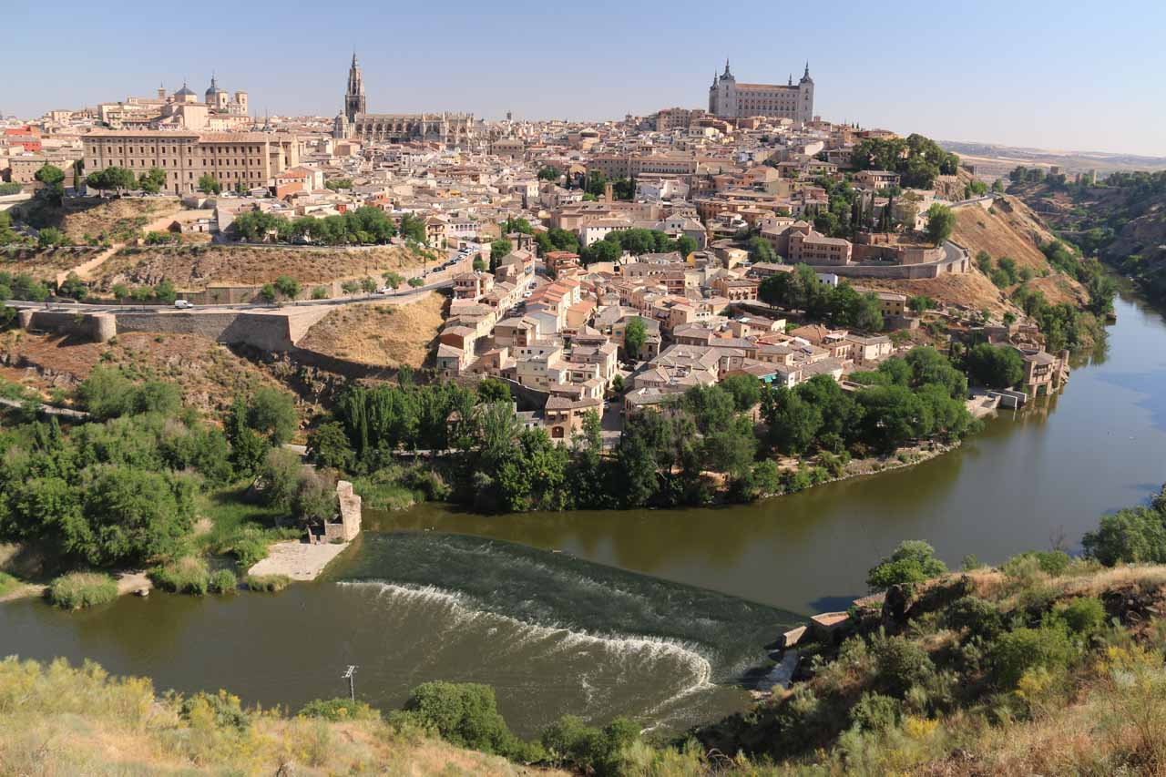 Roughly an hour's drive south of Madrid was the medieval city of Toledo with its charming narrow alleyways and its blend of three cultures - Jewish, Muslim, and Catholic