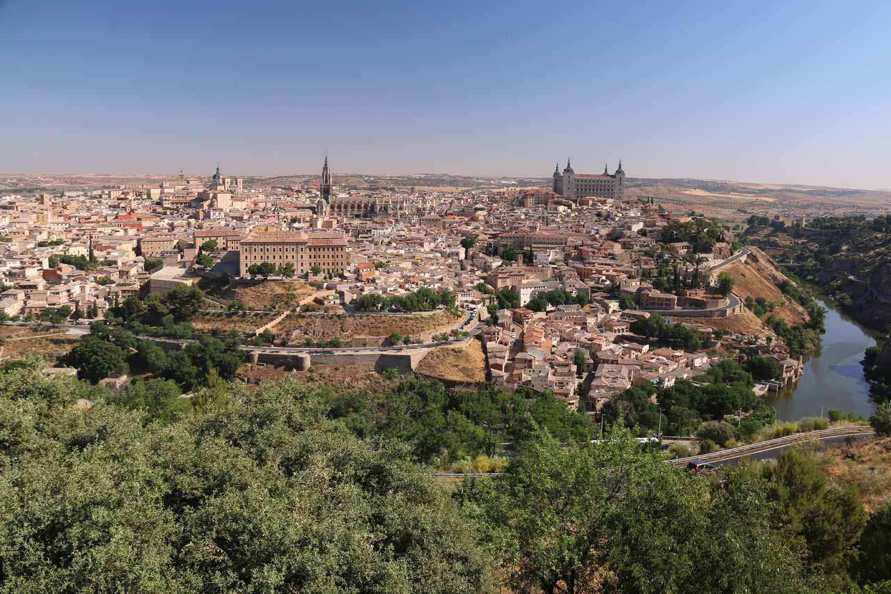 View towards Toledo from the Parador