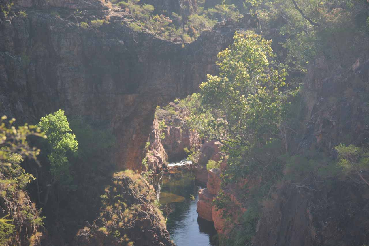 Here's another look at the natural bridge within the gorge