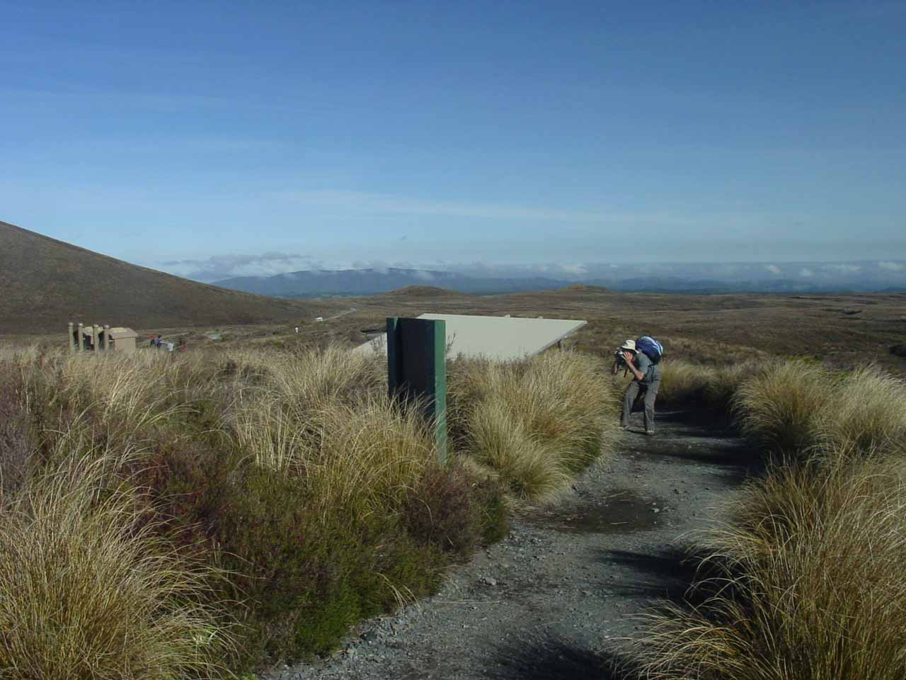 At the start of the Tongariro Crossing Track