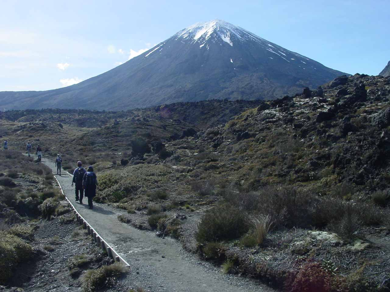 Even though this photo was taken on the Tongariro Crossing two days after Taranaki Falls, I'd imagine this was the type of scenery I would have seen on the Taranaki Falls track with better weather