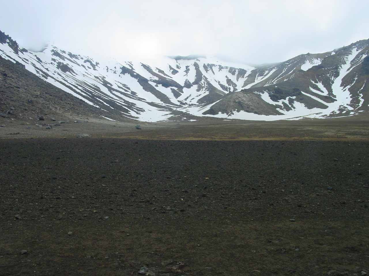 Starting the traverse through the South Crater of the Tongariro Crossing