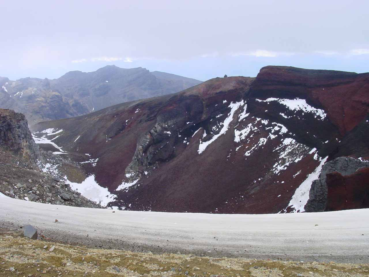 Getting up to the Red Crater on the Tongariro Crossing