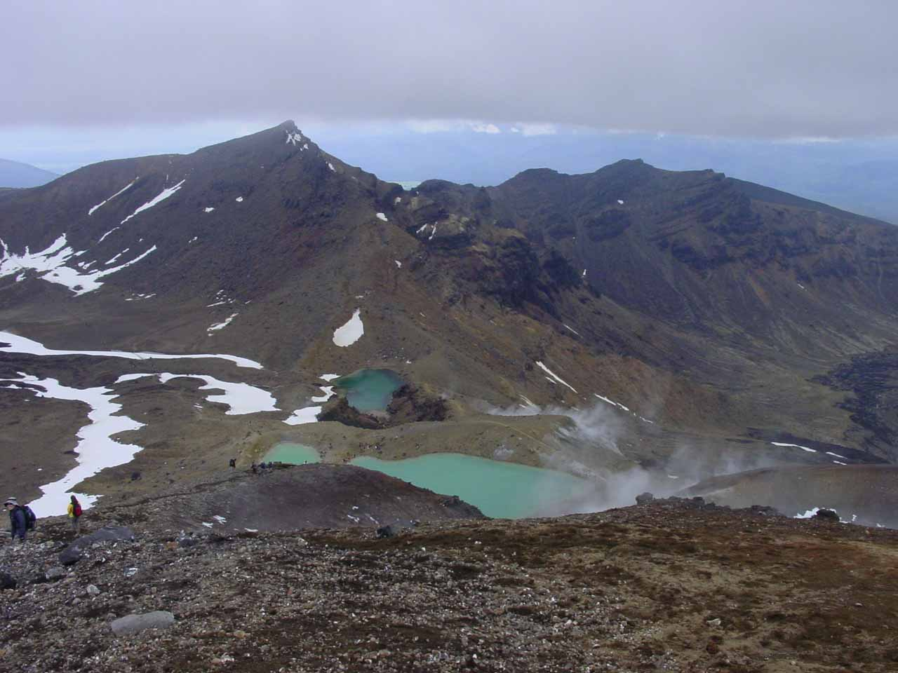 Quite possibly the most dramatic and popular day hike in New Zealand was the Tongariro Crossing, which was the quintessential Tongariro experience while the slopes of Ruapehu were lesser known
