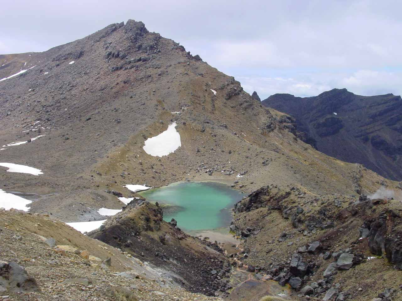 Looking towards more of the Emerald Lakes