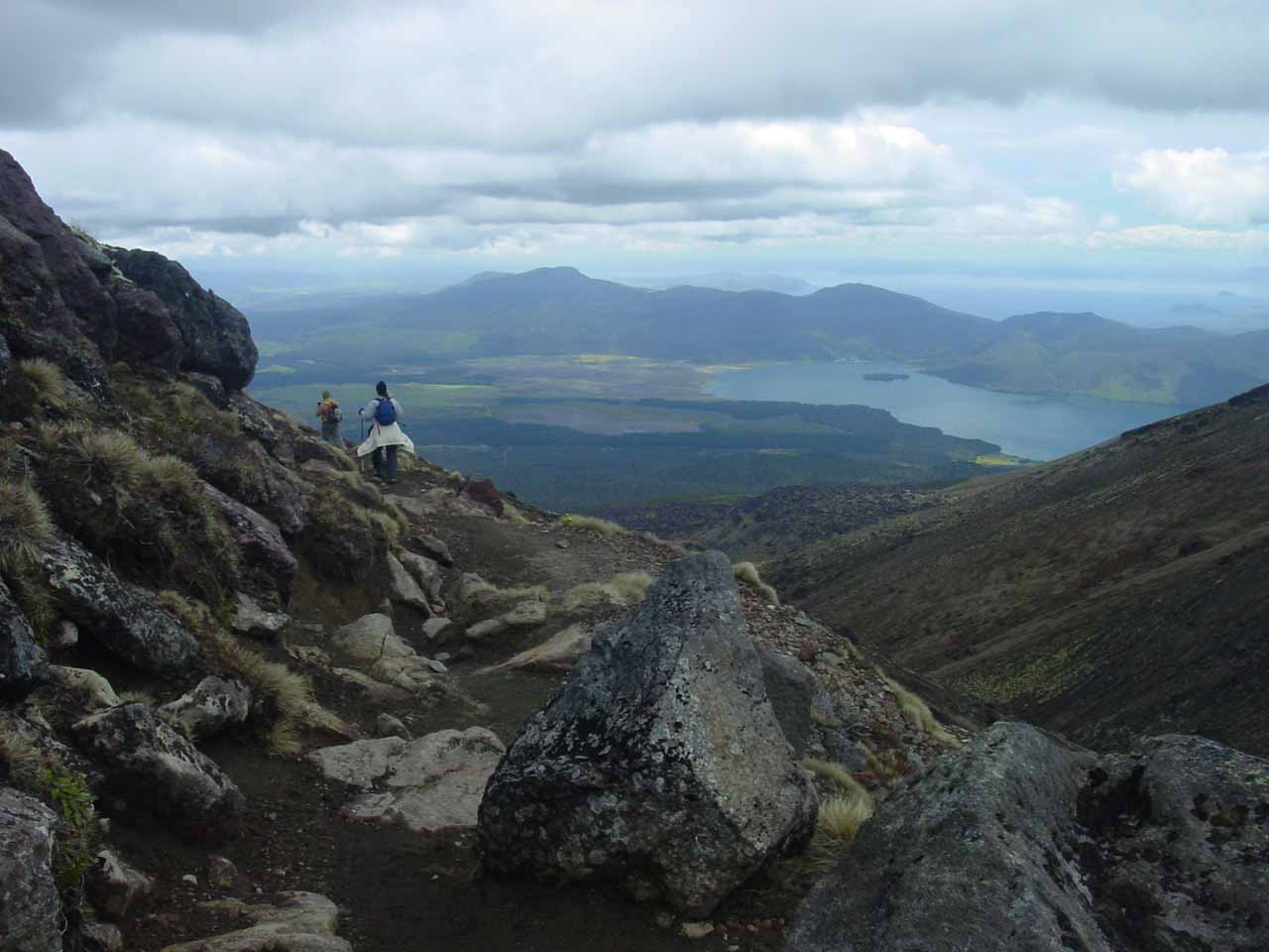 Finally starting to see the north side of the Tongariro Crossing