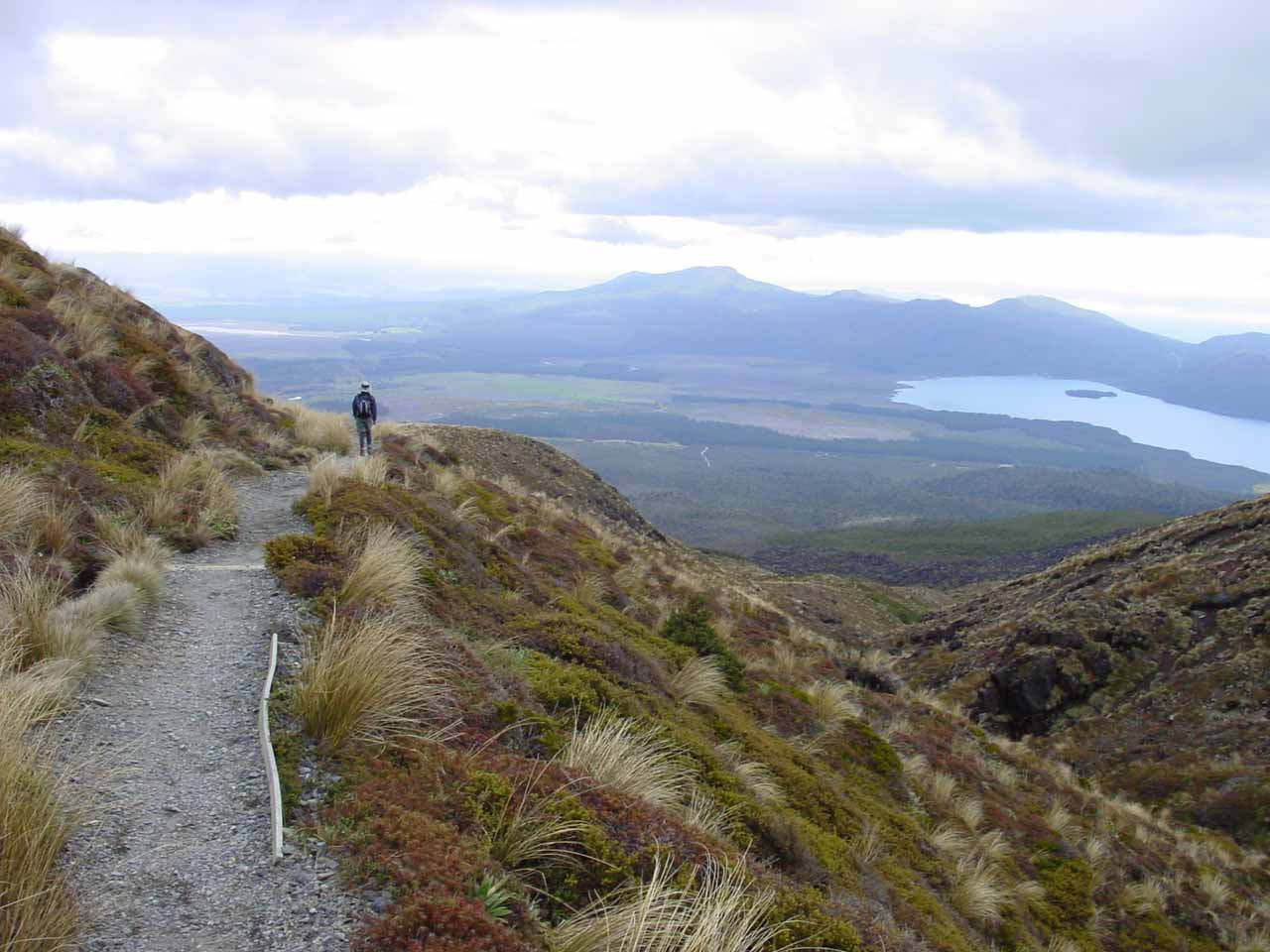 The main reason why we spent a few nights at the Chateau Tongariro was to do the Tongariro Crossing hike.  It was a good thing we were flexible because we had to wait out bad weather
