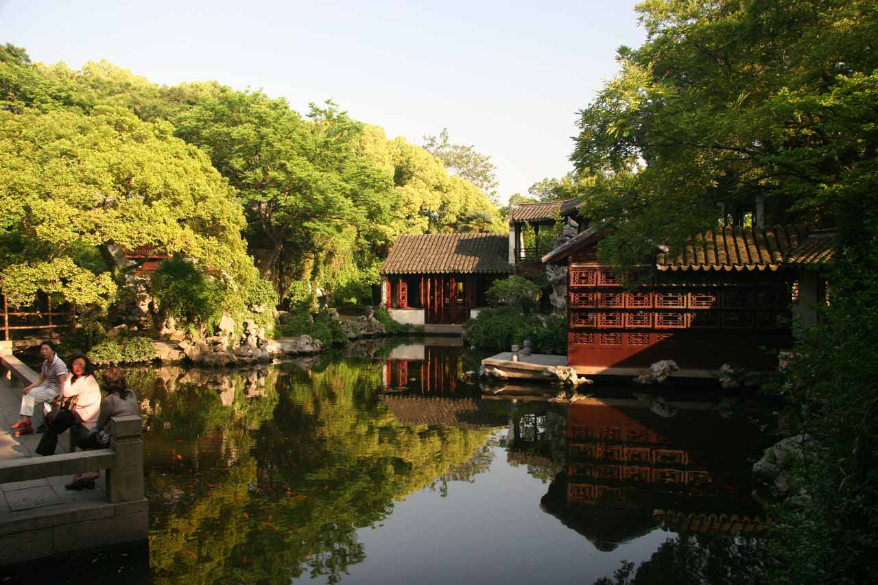 More reflective ponds at Tuisi Garden in Tongli