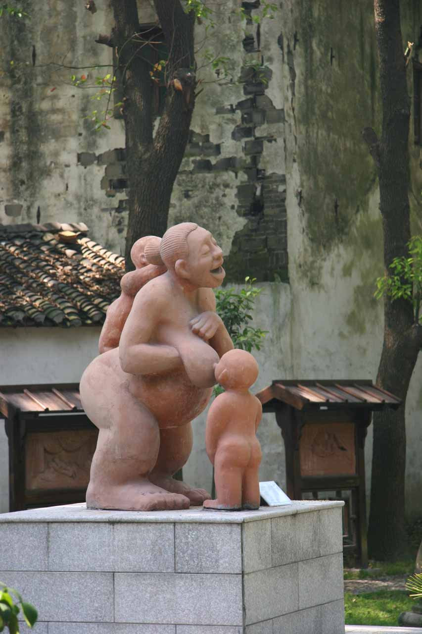 A breast-feeding statue