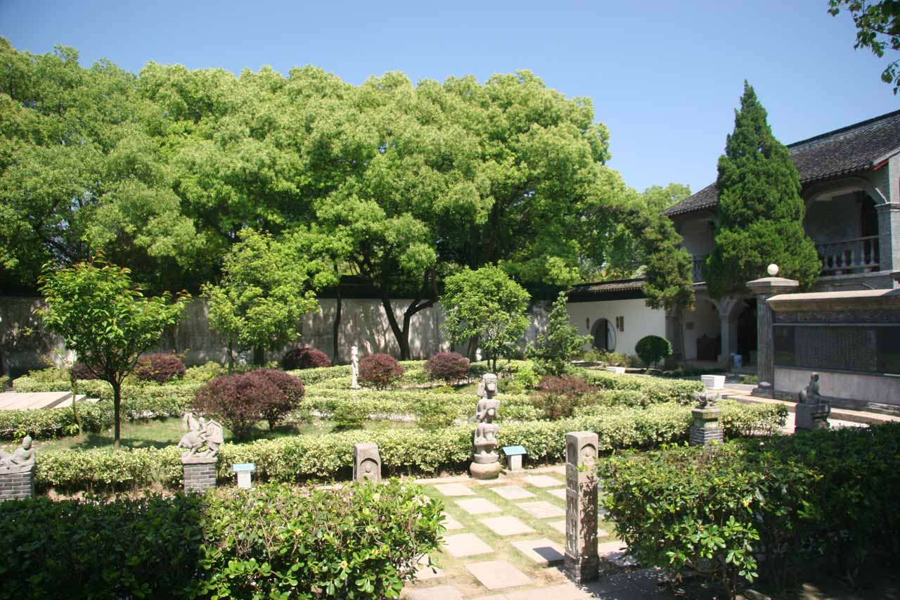 Comprehensive view of the garden within the Tongli Sex Museum