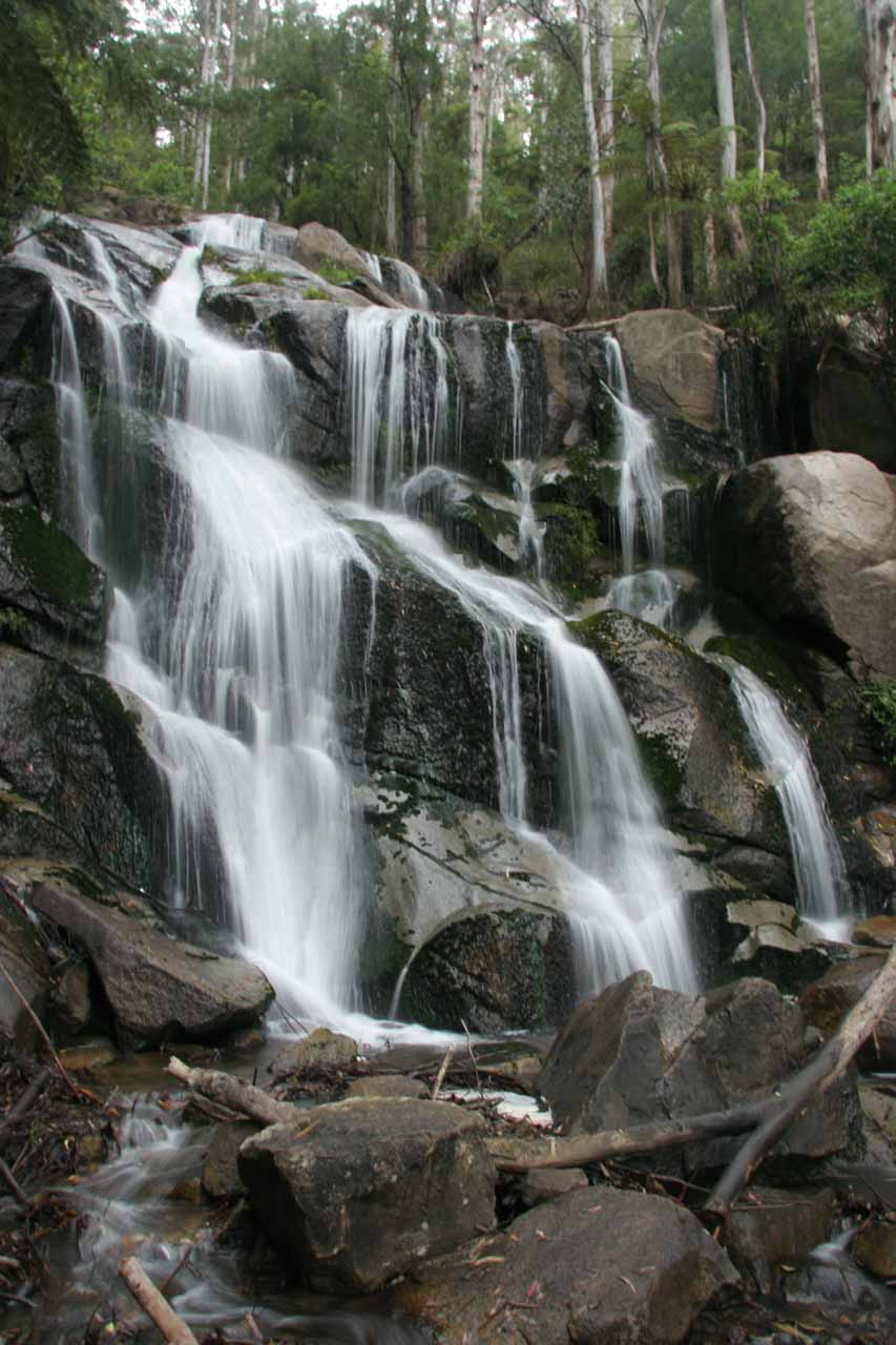 For a little bit of a before and after comparison, here was the Toorongo Falls as seen on our first visit in November 2006