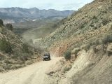 Toquerville_Falls_002_iPhone_04052018 - An approaching off-road vehicle on the very rough Toquerville Road