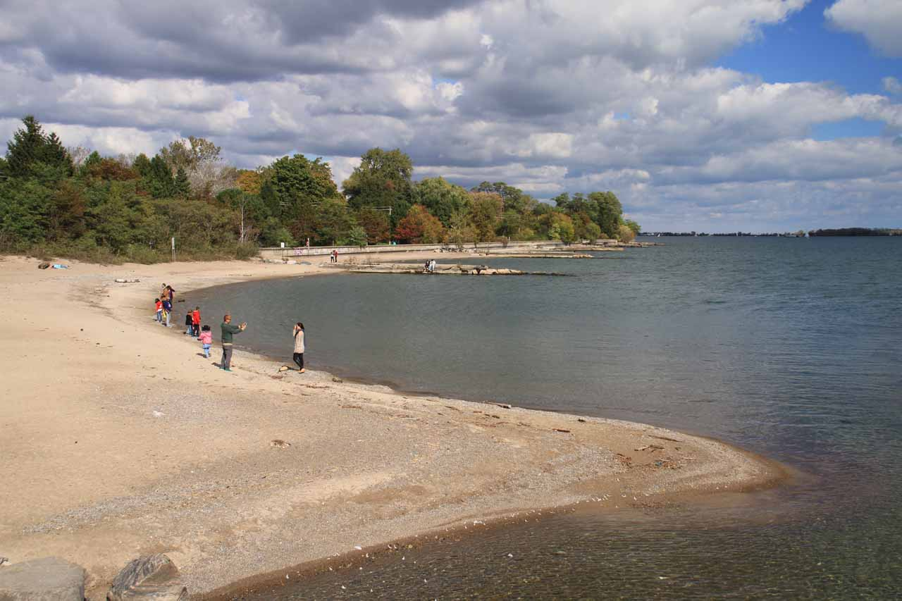 Another look at the beach on Toronto Island