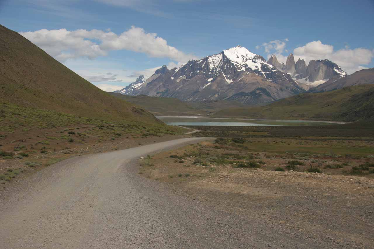 The road we took to get into Torres del Paine