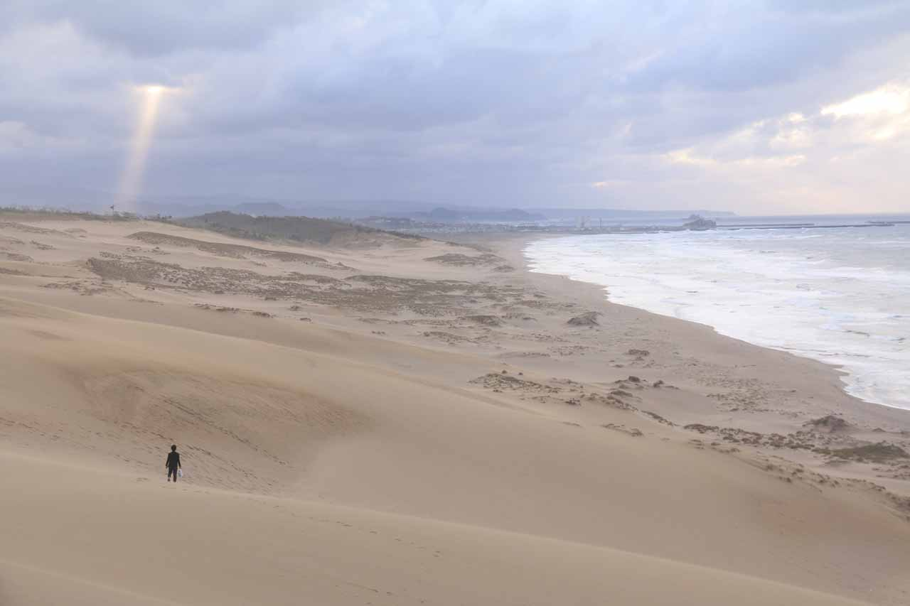 The Amedaki Falls was less than an hour's drive from the Tottori Sand Dunes, which was one of Japan's more unusual and surprising features