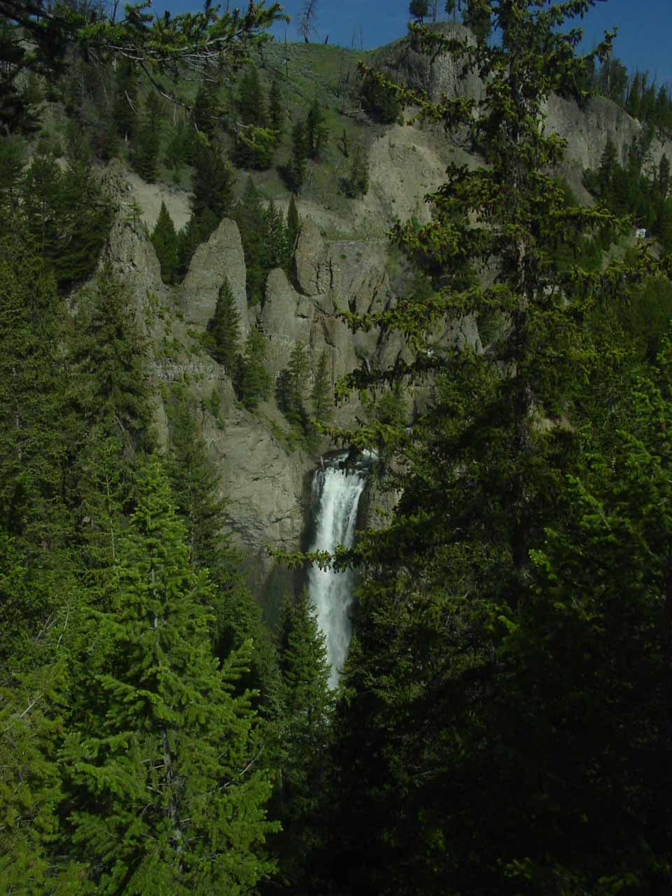 More contextual view of Tower Fall from the upper overlook