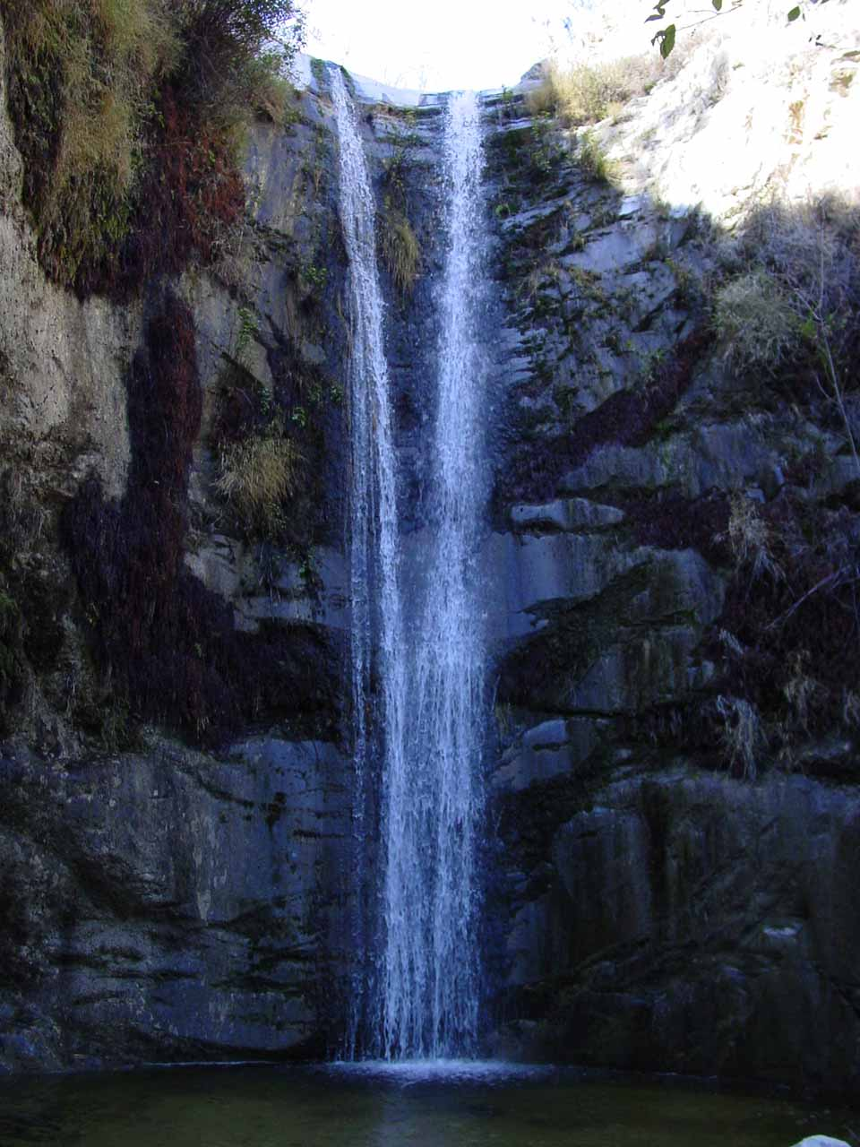 Direct view of Trail Canyon Falls in 2002