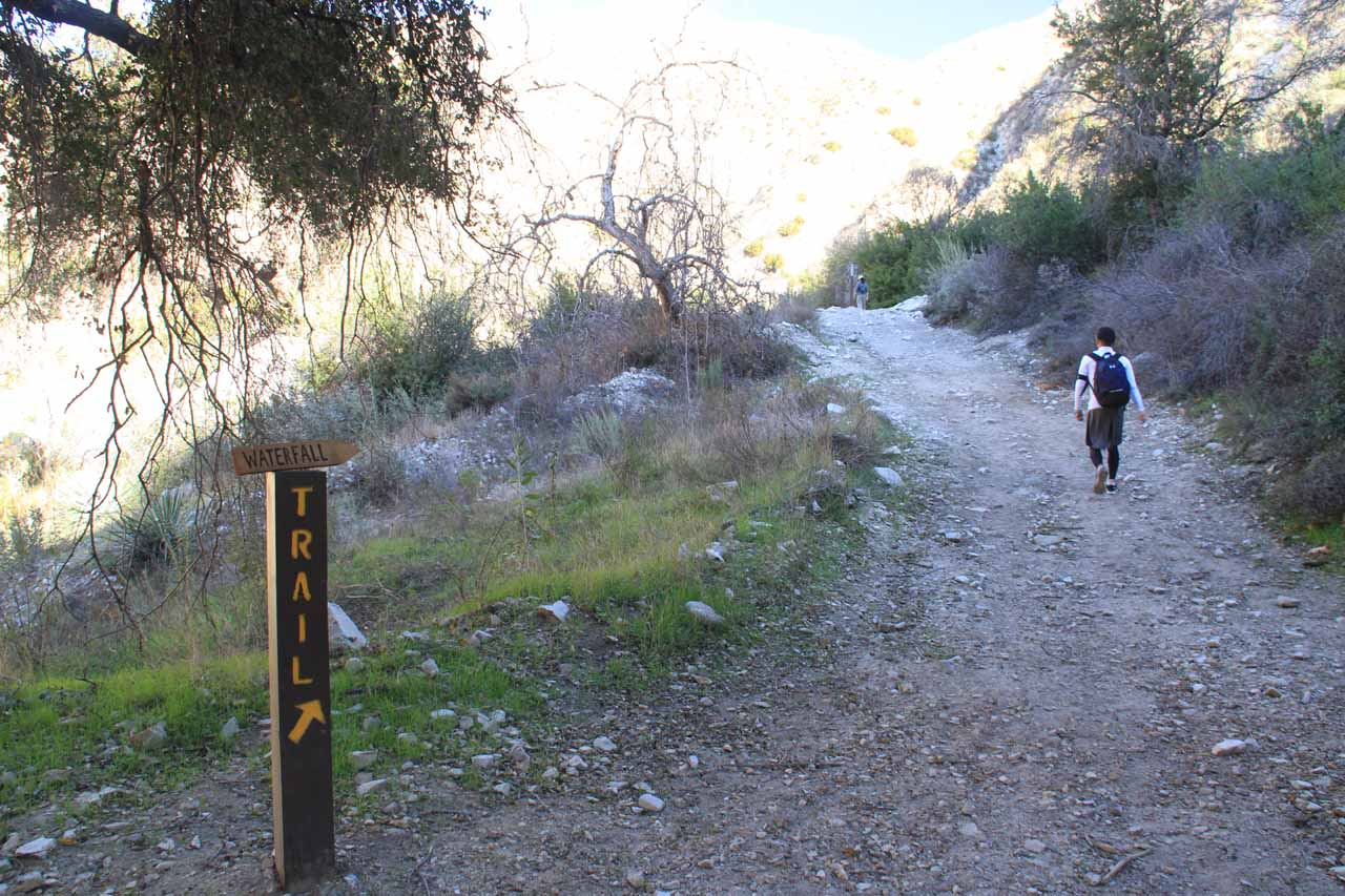 Getting to the unmaintained part of the trail