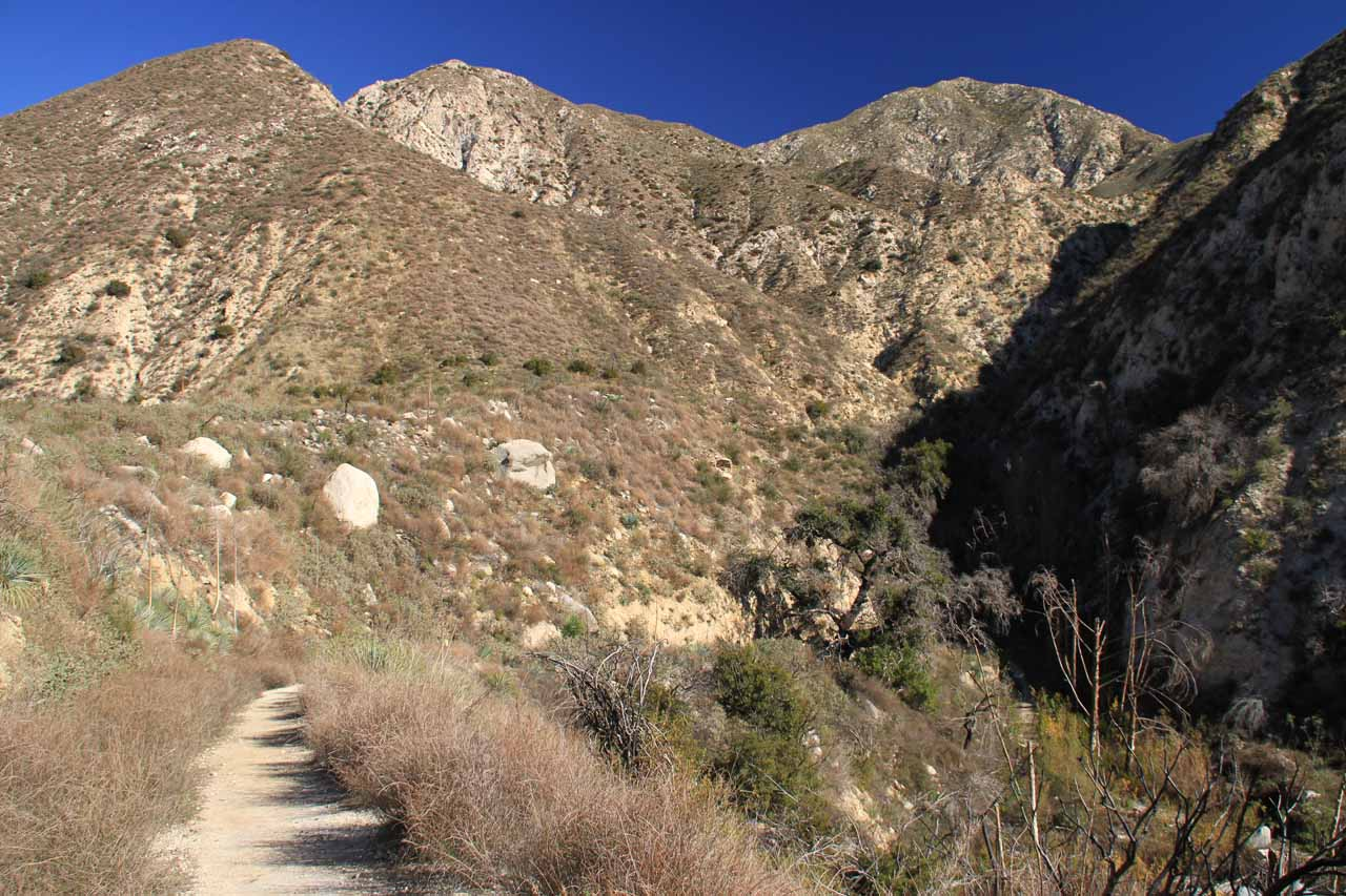 The trail in Trail Canyon