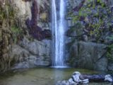 Trail_Canyon_Falls_018_12302002 - Focused look at the plunge pool at the base of Trail Canyon Falls as seen in late December 2002