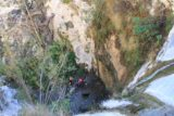 Trail_Canyon_Falls_106_01192013 - Looking down over the brink of Trail Canyon Falls during our visit in January 2013