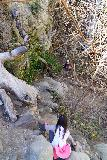 Trail_Canyon_Falls_183_02082020 - The final descent to reach the foot of the Trail Canyon Falls as of February 2020