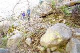 Trail_Canyon_Falls_184_02082020 - Unsightly graffiti near the bottom of Trail Canyon Falls