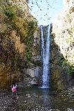 Trail_Canyon_Falls_193_02082020 - Tahia posing before the Trail Canyon Falls