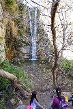 Trail_Canyon_Falls_211_02082020 - Julie and Tahia picnicking before the base of Trail Canyon Falls