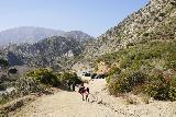 Trail_Canyon_Falls_327_02082020 - Julie and Tahia finally making it back to the Big Tujunga Canyon Road