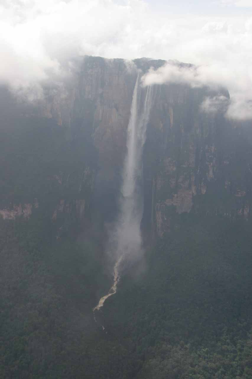 Nearly direct aerial look at Angel Falls