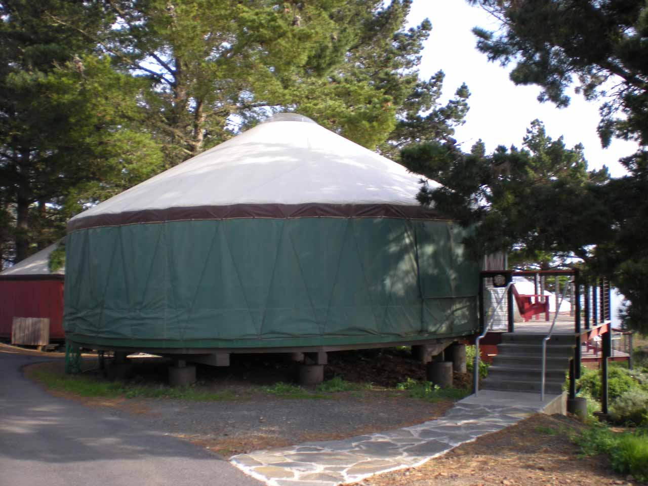 A yurt at Treebones