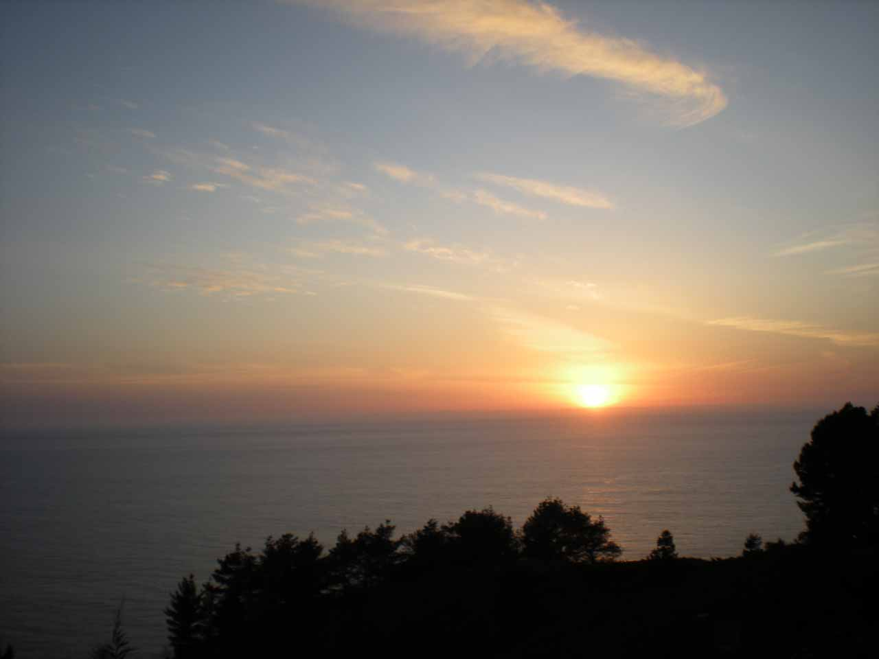 Beautiful sunsets are not unusual along the Big Sur Coast