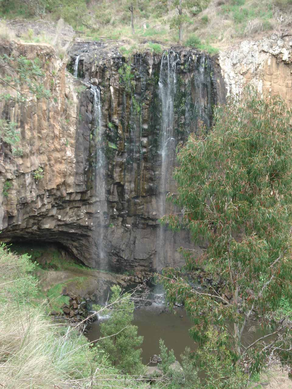 To compare our first visit with our second visit, here's a photo of Trentham Falls taken from the overlook in November 2006