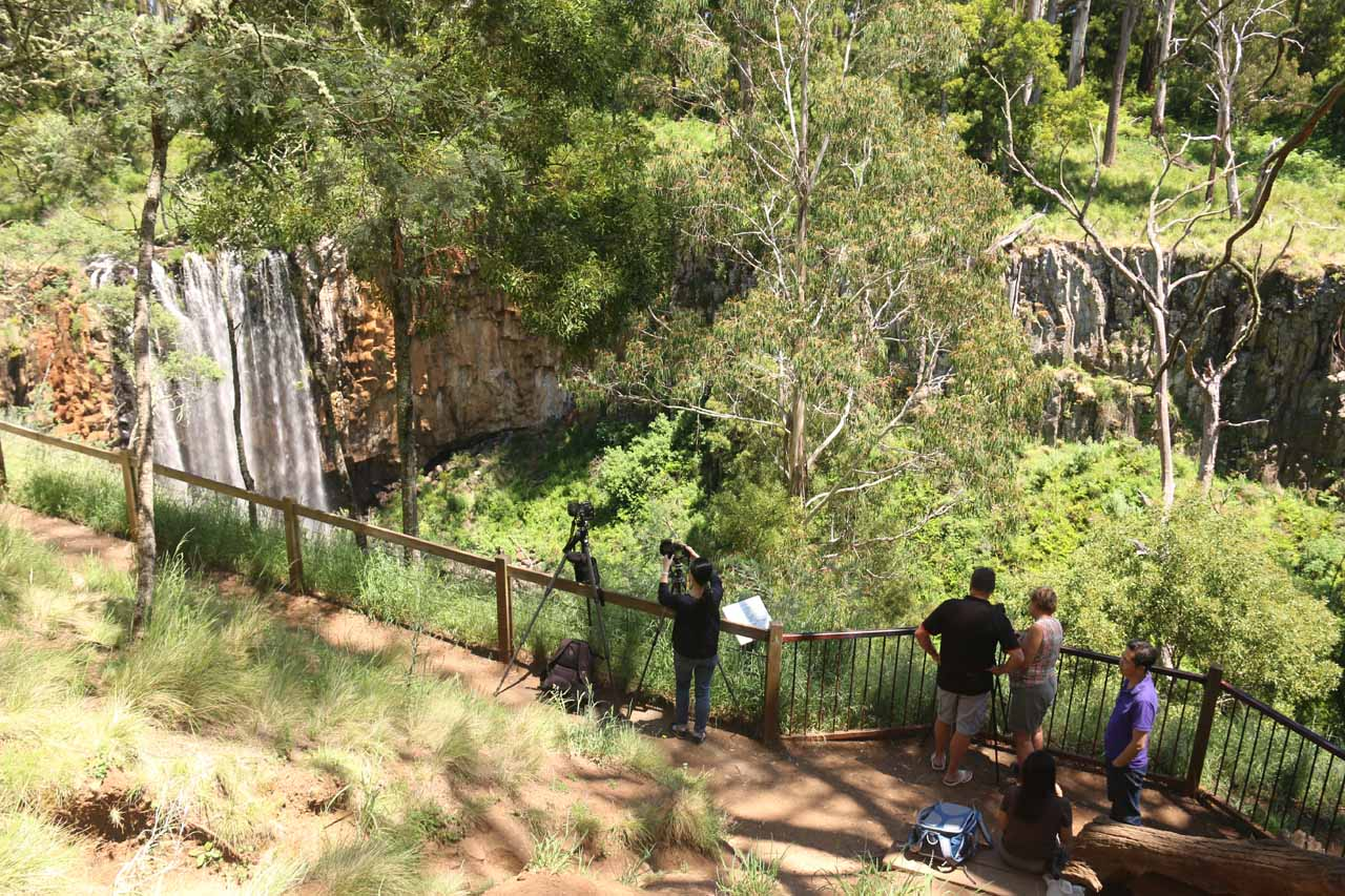 Context of the official viewpoint of Trentham Falls