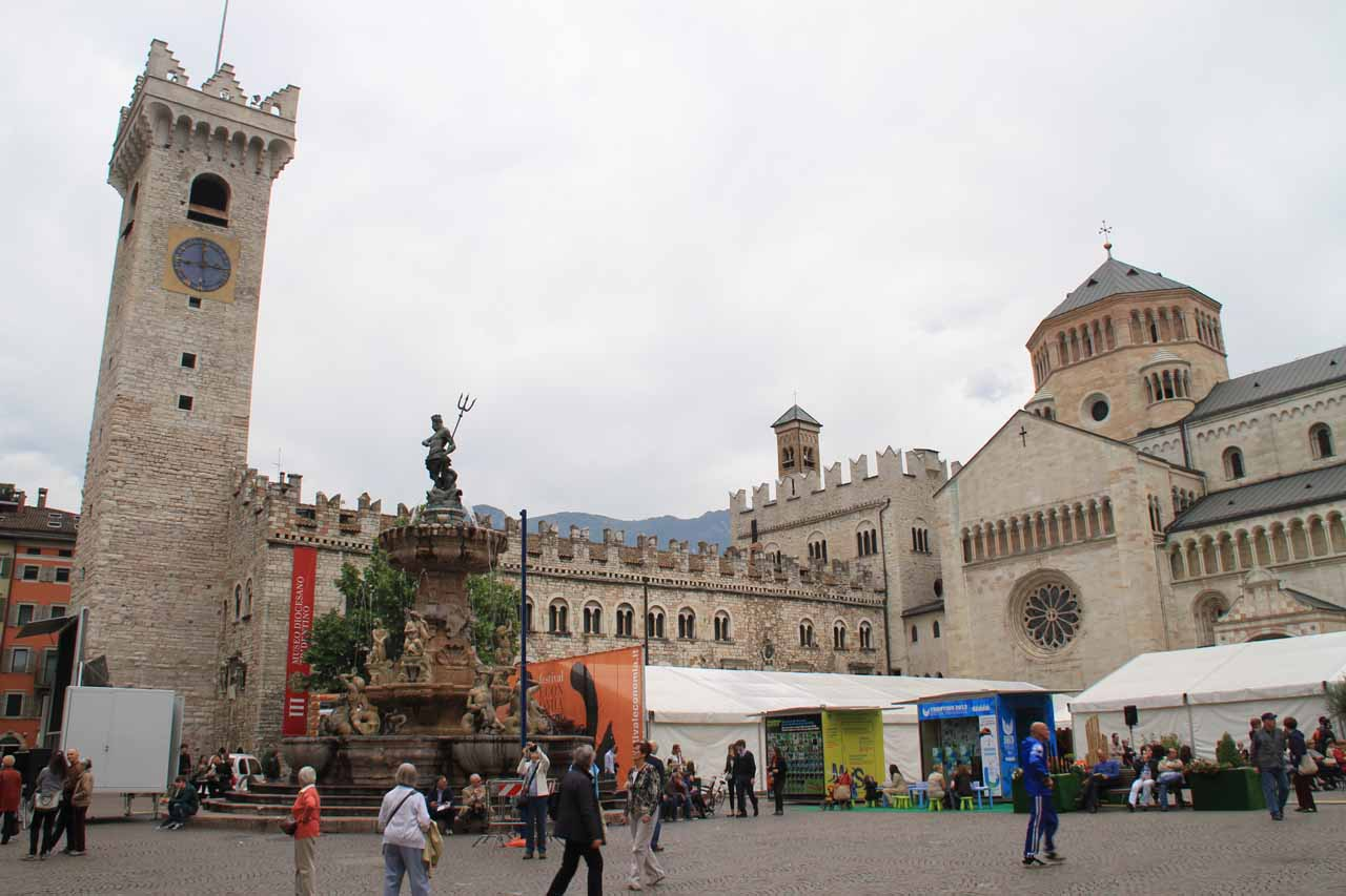 At the happening Piazza del Duomo in Trento