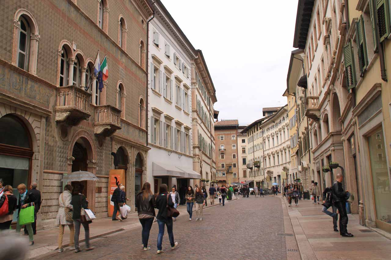 Walking the centro storico of Trento was pleasant and atmospheric
