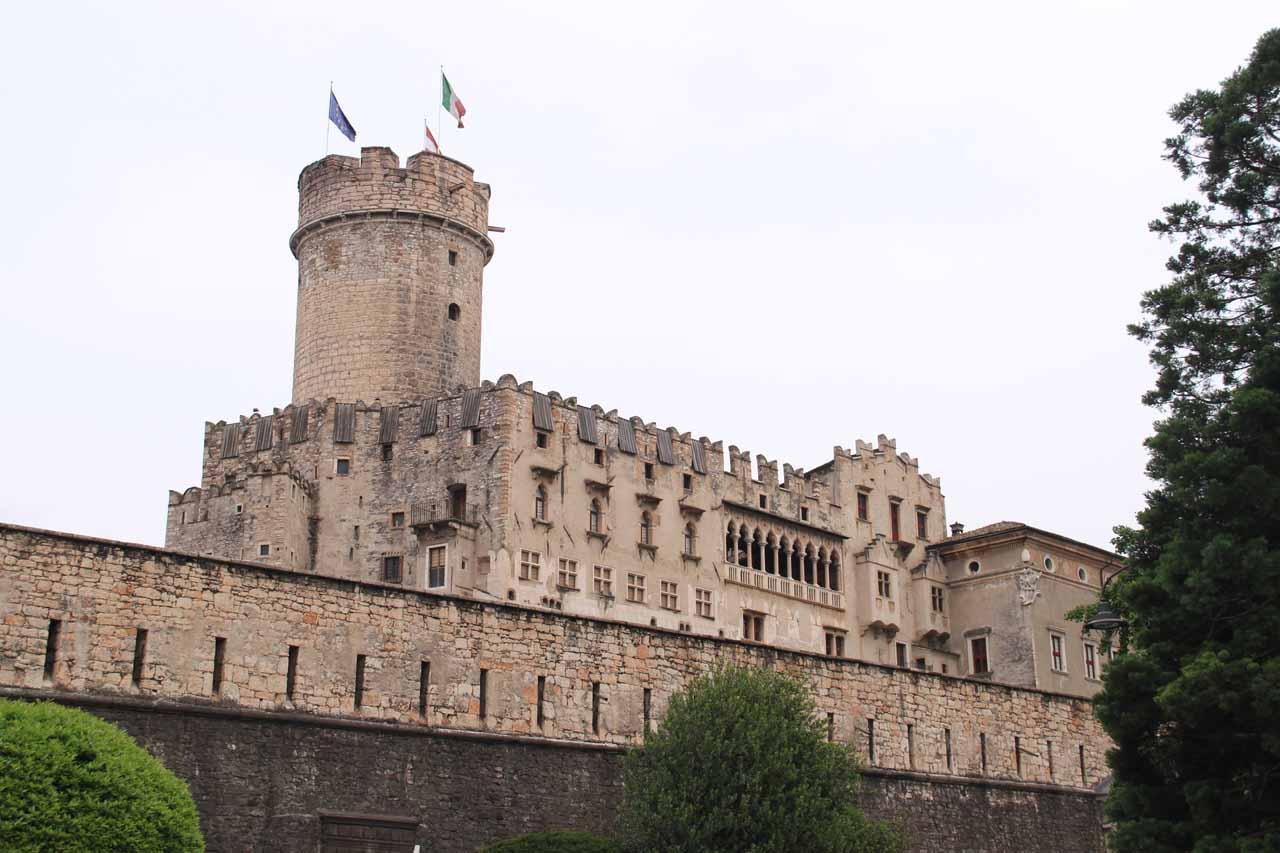 Castello di Buonconsiglio from the outside