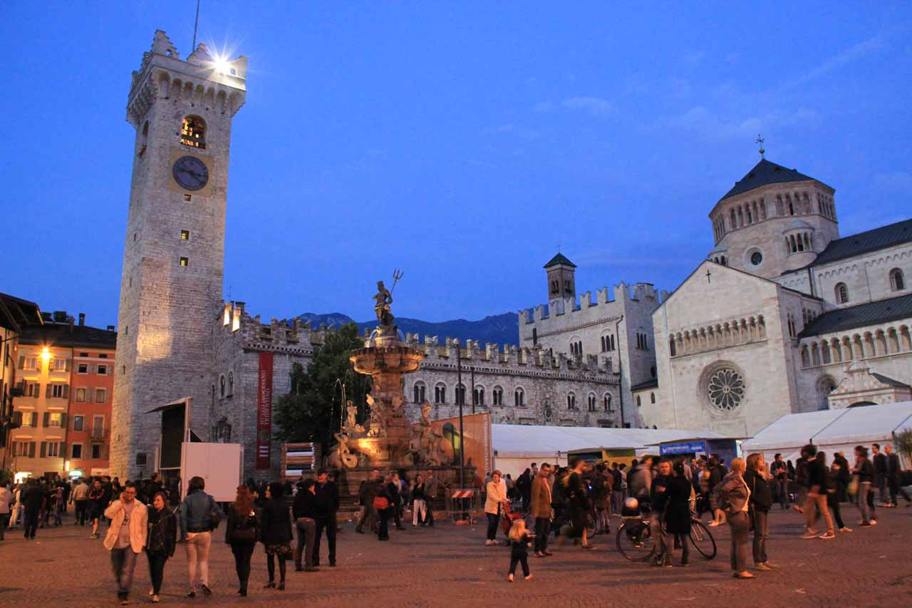 The charming city of Trento was the nearest major city to Val Genova, and it was where we had stayed the night the day we visited Cascate di Nardis