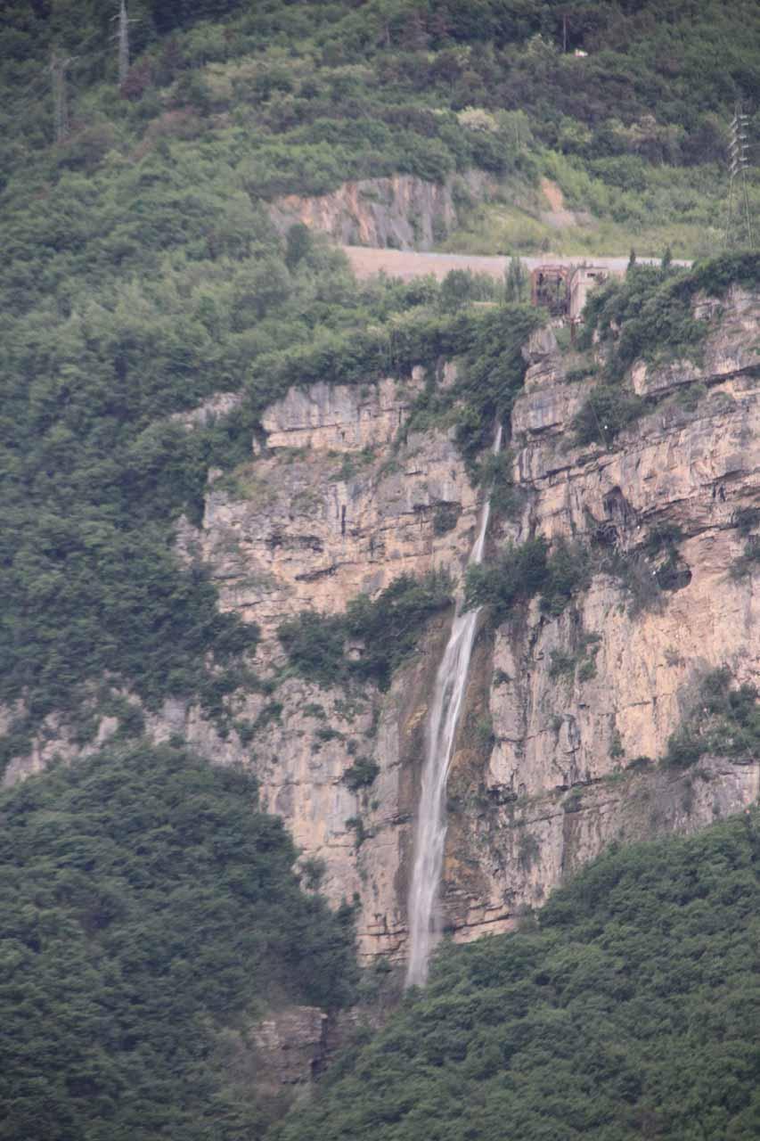 Focused look at Cascata di Trento