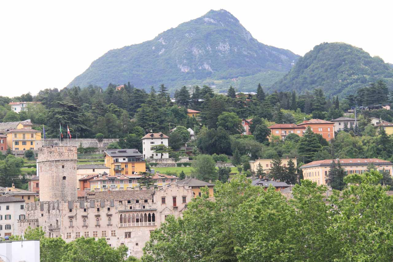 Checking out Trento from the roof of the Grand Hotel Trento