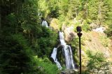 Triberg_121_06212018 - Side view of the Triberg Waterfalls revealing a floodlighting pole as apparently this falls lights up at night