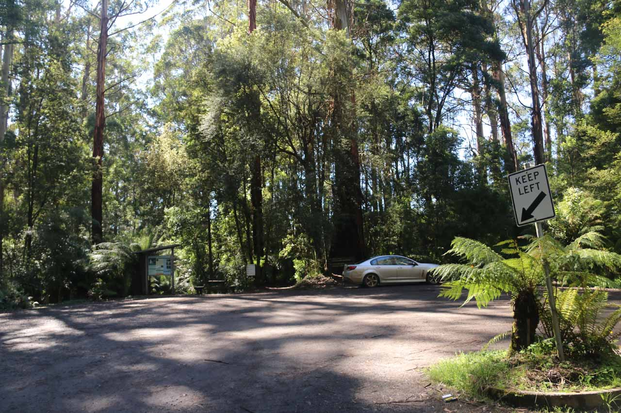 A look at the spaciousness of the Triplet Falls car park