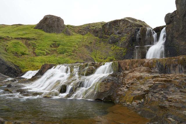 Trollafoss_092_08192021 - Finally reaching the bottom of Tröllafoss and its lower cascade
