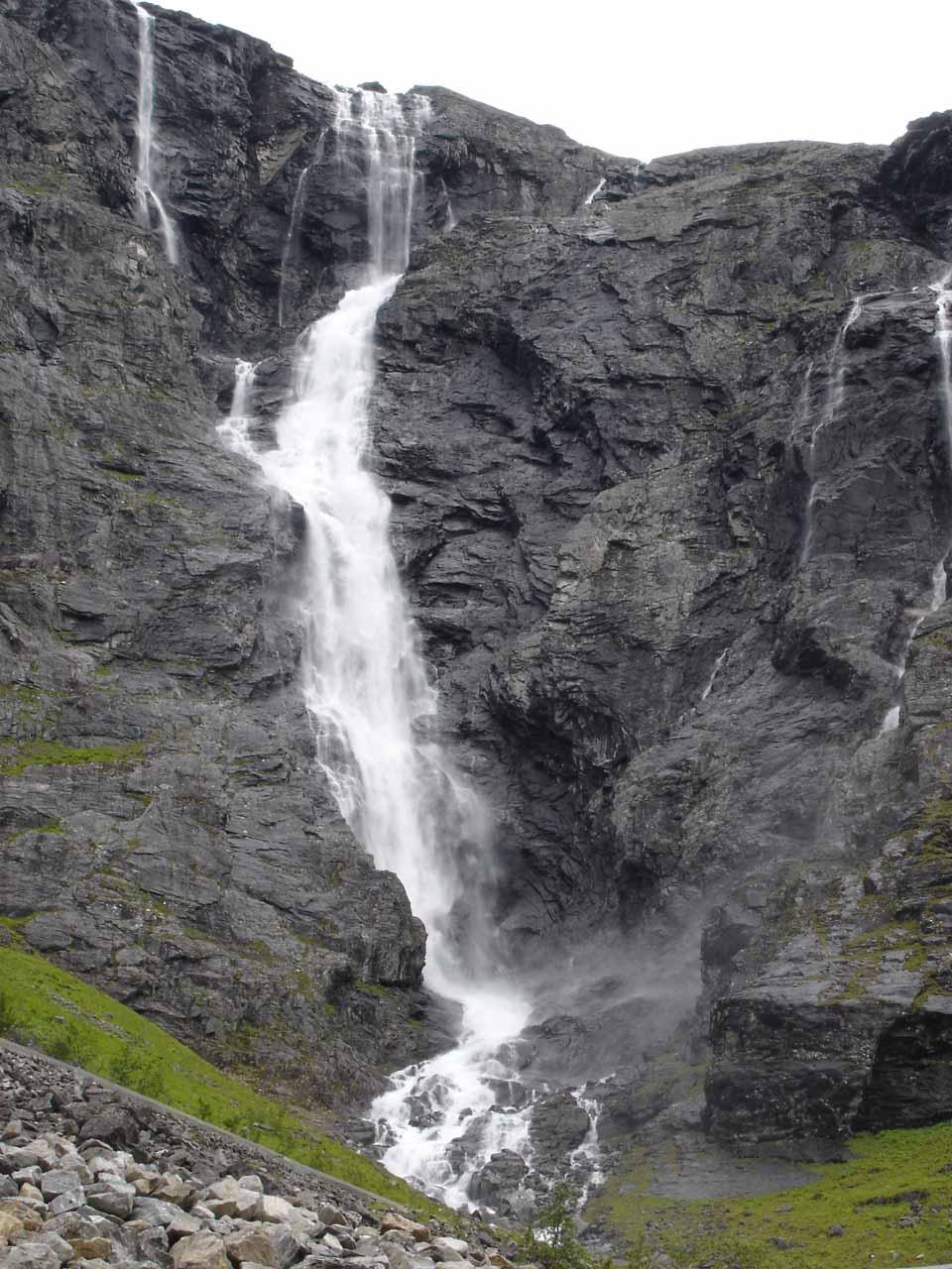 Higher up Trollstigen with this closeup view of Tverrdalsfossen