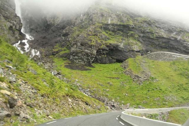 Trollstigen_049_07172019 - Context of the Trollstigen Road with Tverrdalsfossen tumbling towards part of the road as seen during our drive in 2019