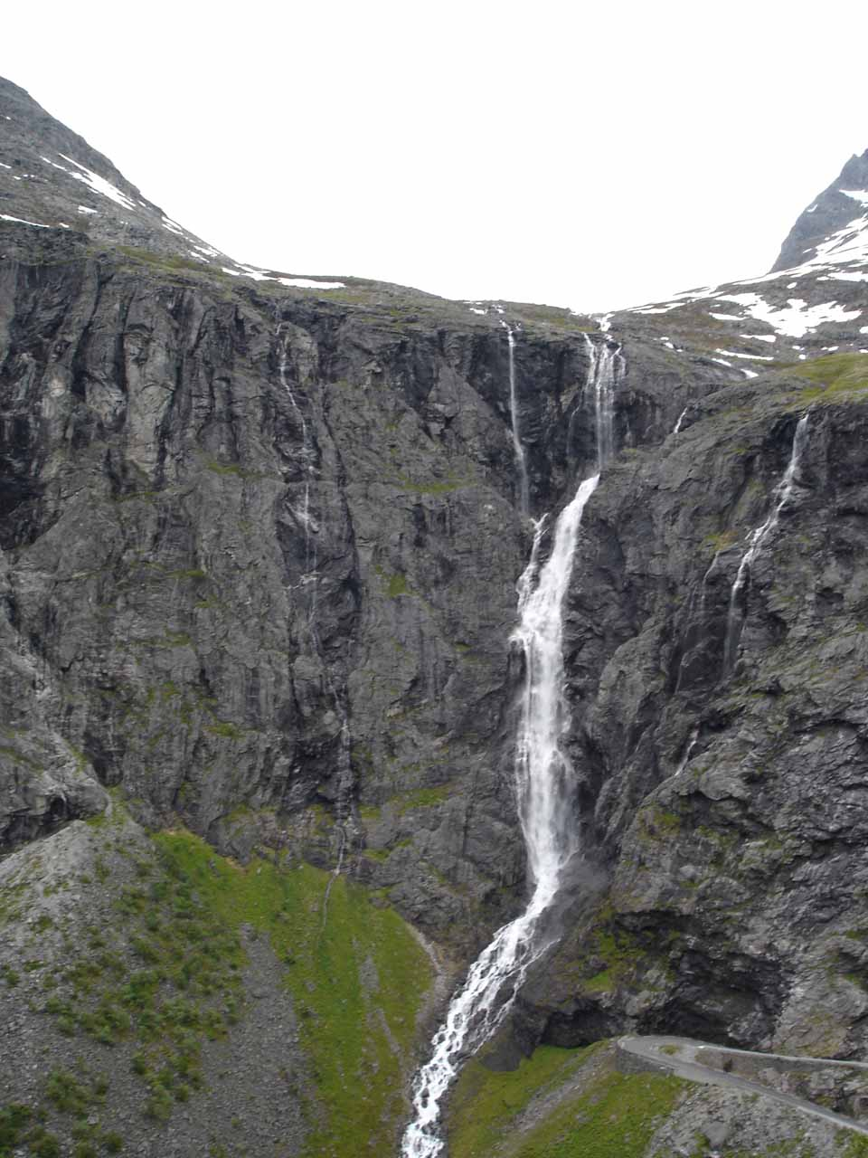 Now we were high enough on Trollstigen to feel like we were at eye level with the top of Tverrdalsfossen