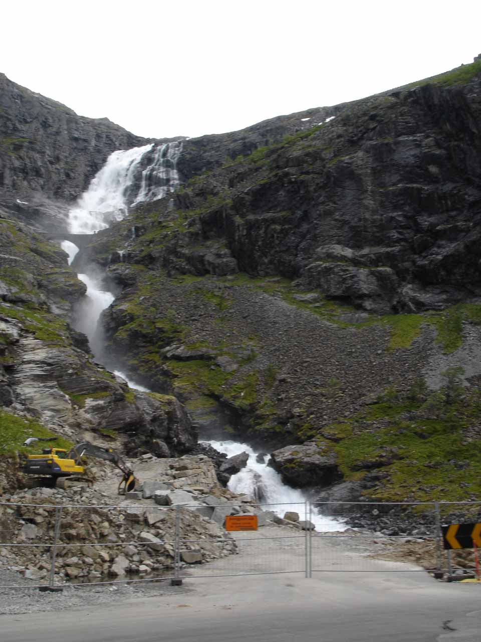 Construction zone before Stigfossen